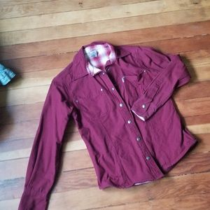 Carhartt jacket red plaid lined